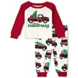 The Children's Place Baby and Toddler Holiday 2 Piece Snug Fit Cotton Pajamas, Christmas Truck, 4T