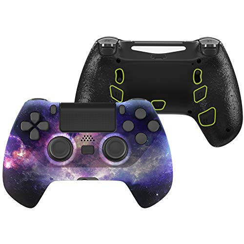 eXtremeRate Nubula Galaxy Decade Tournament Controller (DTC) Upgrade Kit for PS4 Controller JDM-040/050/055, Upgrade Board & Ergonomic Shell & Back Buttons & Trigger Stops - Controller NOT Included