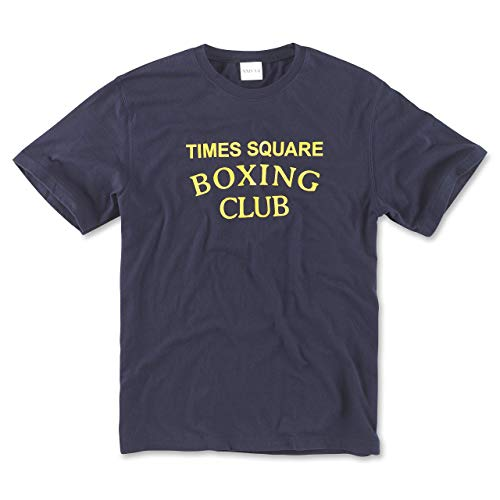 Times Square Boxing Club Gym T-Shirt - Vintage Boxing Apparel Workout Tees - Midnight Navy -...