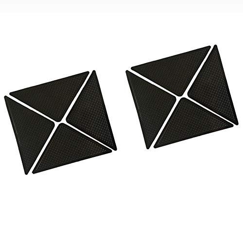 4pcs / Set Wiederverwendbare waschbare Wolldecke-Teppich-Matten Anti-Rutsch-Aufkleber-Silikon-Griff for Home Bade Wohnzimmer Anti Slip Teppich Aufkleber Pad (Color : 12pcs one Set)