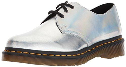 Dr. Martens Damen 1461 Sneaker, Mehrfarbig Silver Lazer Reflective Metallic Leather 23552073, 37 EU