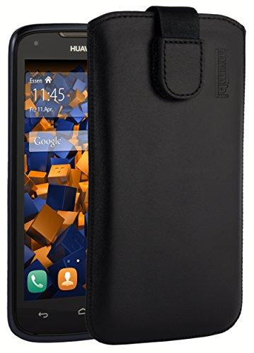 mumbi Echt Ledertasche kompatibel mit Huawei Ascend Y520 / Y540 Hülle Leder Tasche Case Wallet, schwarz