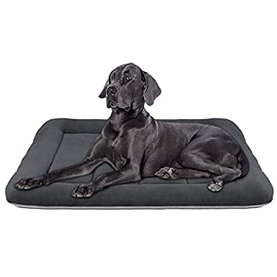 Hero Dog Large Dog Bed 42 inch Crate Pad Mat Washable Non Slip Pet Beds for Sleeping Dark Grey L