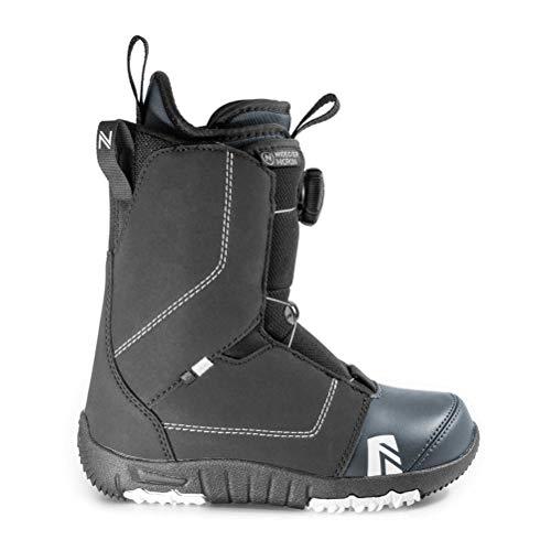Nidecker Micron BOA Snowboard Boots (Black, 7) - Kids