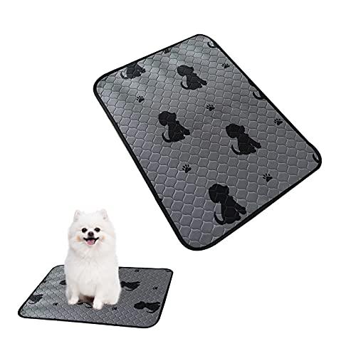 HOSPAOP Almohadilla de Entrenamiento para Perros, 60 cm x 45 cm Súper Absorción Pañales de Perro Lavable y Reutilizables Empapadores de Entrenamiento, para Mascotas Antideslizante Impermeable, Gris