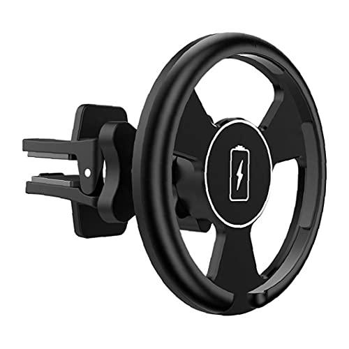 FeelMeet Cargador inalámbrico para Coche Soporte para Coche magnético teléfono del Coche Salida de Aire Multi usos Montaje Compatible con iPhone Negro