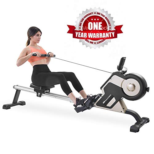 %9 OFF! Merax Magnetic Rower Home Rowing Machine with LED Monitor and 8-Level Resistance Adjustment ...
