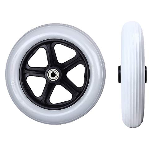 6 Zoll / 15 Cm Universal Solid Wheel Ersatzteile Für Rollstuhl Front Caster Reifen Rollator Walker, Grau 2 Stk
