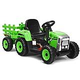 Kinder Elektro Traktor mit abnehmbarem Anhänger