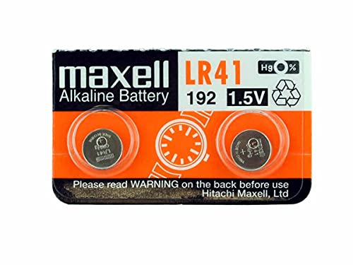 2 x Maxell LR41 /192 / AG3 / V3GA 1.5v Alkaline Button Cell Battery Batteries