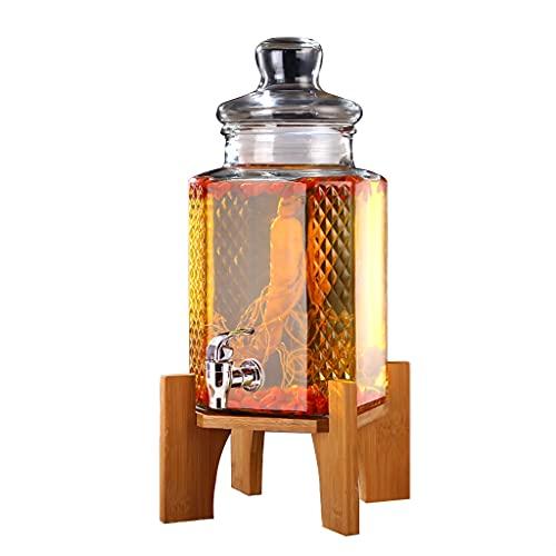 WLN Cubo De Hielo Ginseng Espesado Vino Medicinal Cubo De Hielo Bucalización De Vino Botella De Vino Sellado Alto Borosilicato Transparente Botella 1000ml