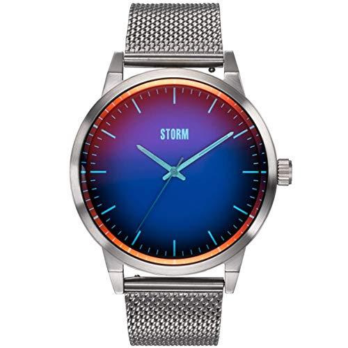 Styro Lazer Blue, Storm London Herrenuhr, Edelstahlgehäuse, hochwertiges Mineralglas, Armbanduhr, 3 bar Wasserdicht