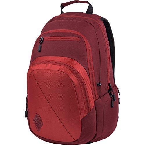 Nitro Stash Rucksack, Schulrucksack, Schoolbag, Daypack, Chili, 49 x 32 x 22 cm, 29 L,