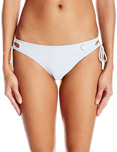 Body Glove Women's Smoothies Tie Side Mia Mid Coverage Bikini Bottom Swimsuit, White, Medium