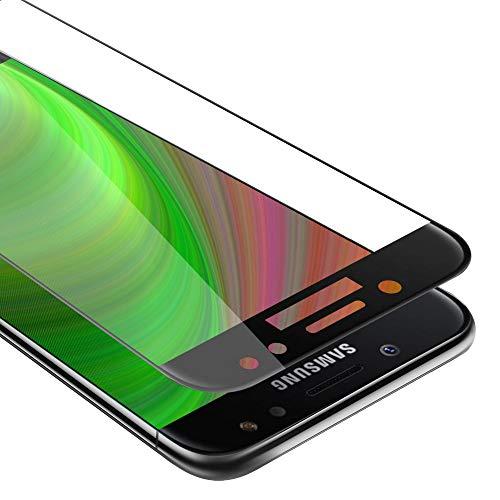 Cadorabo Vollbild Panzerglasfolie für Samsung Galaxy J7 Prime / ON7 2016 - Schutzfolie in TRANSPARENT mit SCHWARZ - Gehärtet (Tempered) Bildschirmschutz Glas in 9H Festigkeit mit 3D Touch Kompatibilität