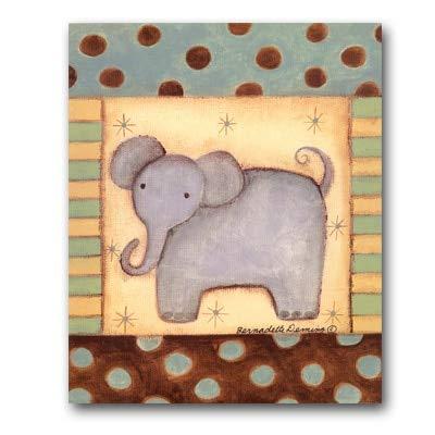 Groothandel cartoon dieren canvas schilderij bedrukt hert en olifant muurschilderijen voor baby kinderen kinderkamer decoratie 40x50cm