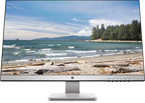 "HP 27q TN Monitor 27"" QHD, 2ms con Overdrive, Low Blue Light, 2560 x 1440, Hdmi, Dvi, DisplayPort, Bordi Ultrasottili, Nero / Argento"