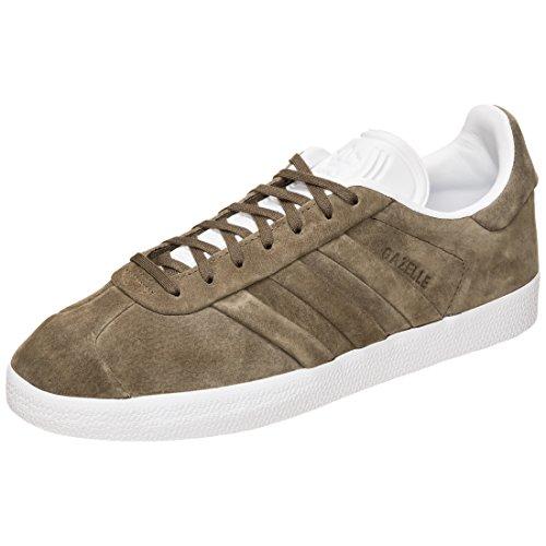adidas Herren Gazelle Stitch and Turn Fitnessschuhe, Mehrfarbig (Rama/Ftwbla 000), 38 2/3 EU