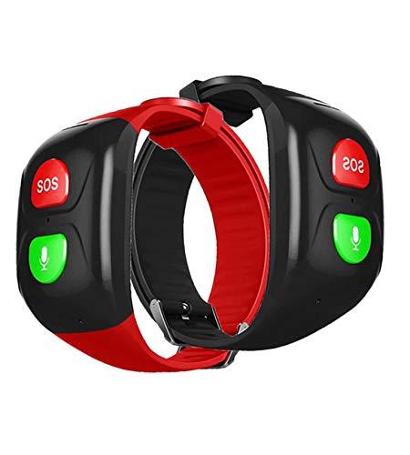 Grande pulsante SOS, impermeabile, per GPS regalo, cinturino GPS, Test BP e HR in tempo reale 24 ore, telecomando, frequenza cardiaca, chiamata di emergenza SOS, localizzatore gps