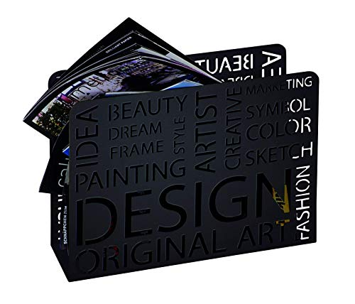 Haku Möbel 44595 Porte Journaux Métal Noir 10 x 35 x 26 cm