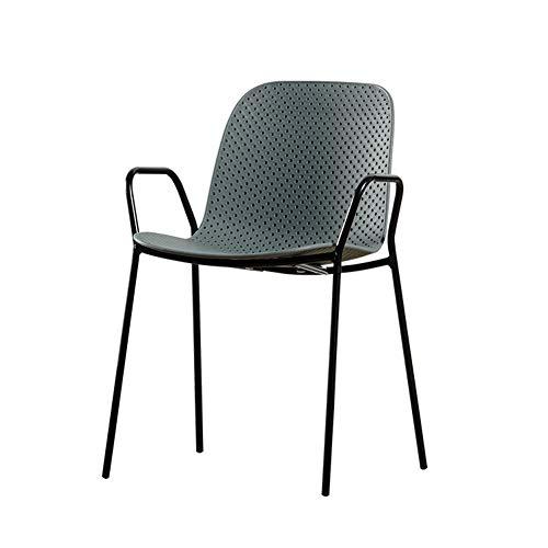 XXQ Sillones Suaves, cómodo y Transpirable Nordic Simple Muebles de Exterior Hueco Libre negociación butaca café Cafe apilable Silla de Comedor de plástico de Nuevo, DET (Color : C)