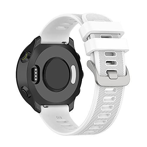 Compatible con Garmin Forerunner55 Bands, accesorios de repuesto de silicona para Garmin Forerunner 55 GPS Running Smartwatch,