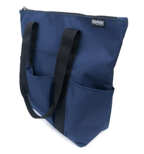 Hopkins 3 Pocket Zippered Tote for Home Health Care - Navy