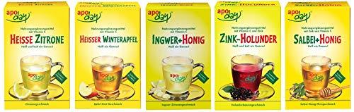 Apoday Winter Set 5er Nahrungsergänzungsmittel mit Vitamin C und Zink