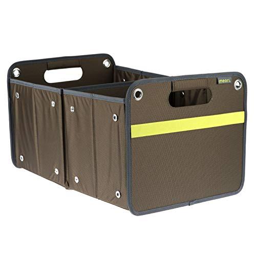 Boîte pliante d'extérieur marron / uni 32 x 50 x 27,5 cm - Lavable et résistante aux taches - Polyester résistant à l'eau - Pour le transport de la pêche et de l'aventure