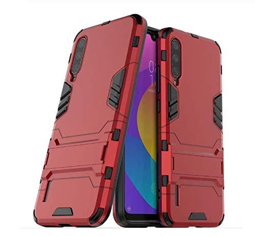 Capa Anti Impacto Armor Militar+ Película Vidro Full Glue 9d Xiaomi Mi A3 (CAPA ANTI IMPACTO ARMOR VERMELHA+PELÍCULA DE VIDRO FULL GLUE 9D PRETA)