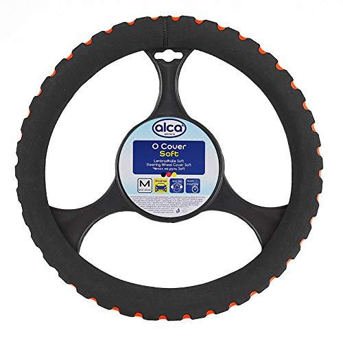Preisvergleich Produktbild alca® 596300 Lenkradhülle - ROT - Lenkradabdeckung Lenkradschoner softer Schaumstoff