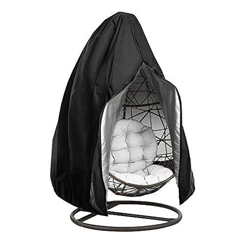 Funda protectora para sillón colgante, resistente al viento y a los rayos UV, cubierta Oxford con cremallera para patio, balancín de huevo, silla flotante (203 x 232 cm)