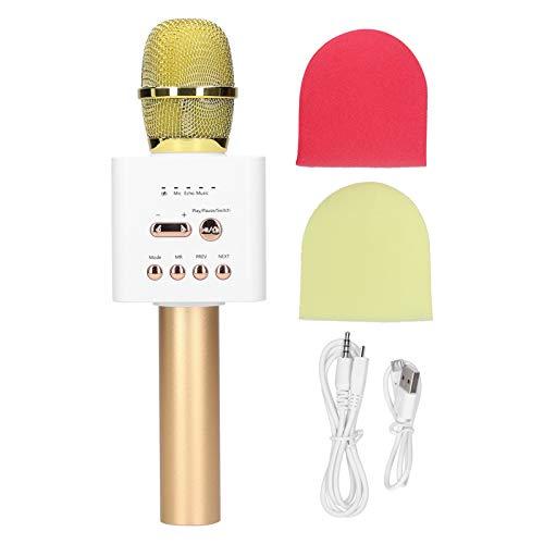 Micrófono inalámbrico Bluetooth, máquina de karaoke portátil de mano, altavoz de micrófono,...
