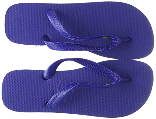 Havaianas Brasil, Chanclas Unisex Adulto, Azul (Brasil Logo Marine Blue), 37/38 EU