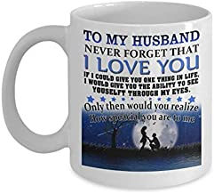 Mug Husband Cute Coffee Cup Dear My Wifey Funny Ideal Gifts from New Future Wife Love Travel on Happy Valentine's Day - 11 Oz White Ceramic