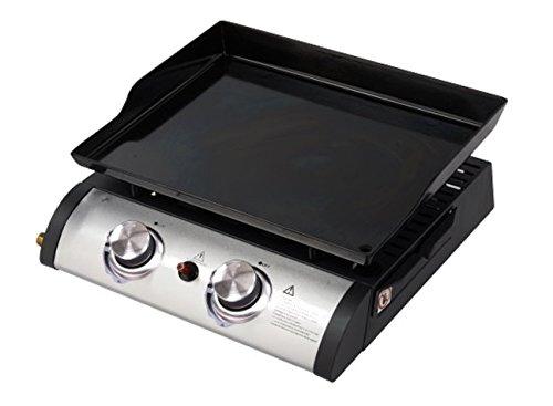 GBSHOP Barbecue Portatile a Gas con Piastra 2 fuochi