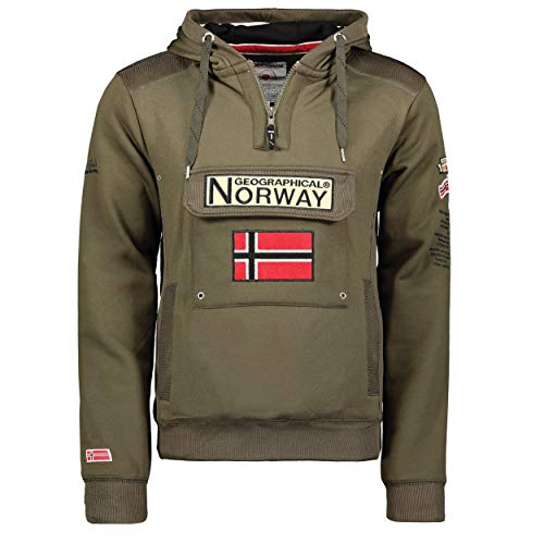 Geographical Norway Sudadera con capucha para hombre caqui L