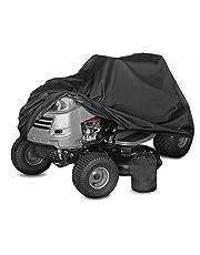 Stofvellen voor grasmaaier, hoes voor zitmaaier, waterdichte anti-uv-tractorhoezen, beschermhoes voor zitmaaier Oxford Zwart 183 X 137 X 117 cm