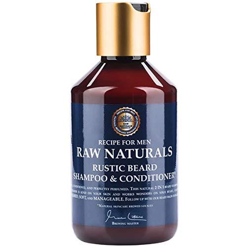 Raw Naturals RUSTIC BEARD SHAMPOO & CONDITIONER | Natural Beard Wash with...