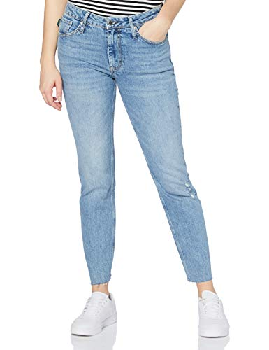 Superdry Mid Rise Slim Jeans, Degraw Blue Vintage, 26W x 30L para Mujer