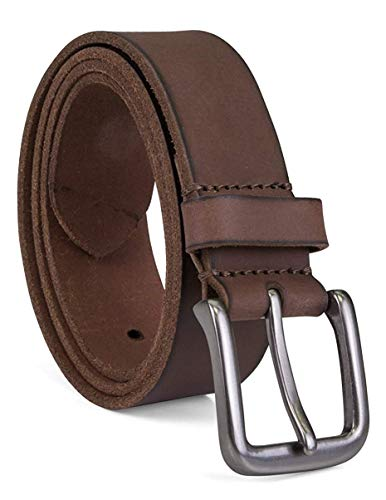 Timberland Men's Classic Leather Jean Belt, Dark Brown, 36