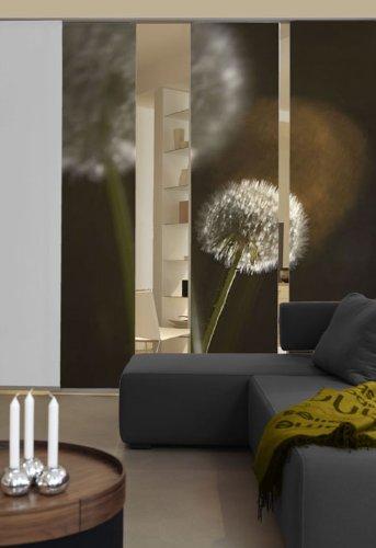 Emotion Textiles Flächenvorhänge Pusteblume 3er Set, 260x180 cm inkl Montagesatz