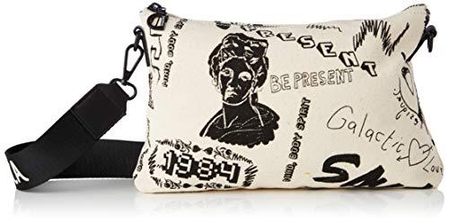 Desigual Fabric Body Bag, Bolsa para Cuerpo de Across para Mujer, Blanco, U