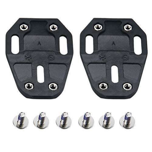 CLISPEED Tacos de Bicicleta de 1 par Compatibles con Pedales Look Delta...