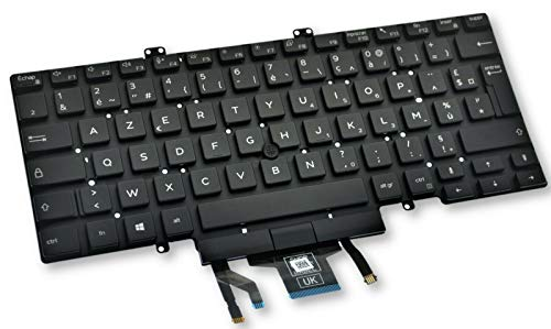 Dell Latitude 5400 5401 5410 5411 French Backlit Dual Point Keyboard 7RR5H