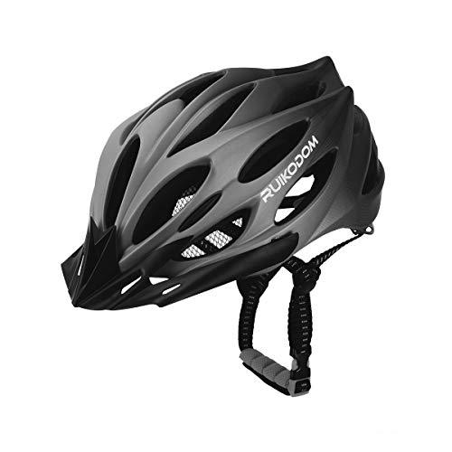 RUIKODOM Casco Bicicleta con Visera, Protección de Seguridad Ajustable Deporte Ligera para...
