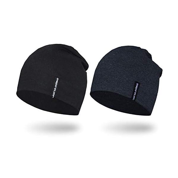 EMPIRELION 9″ Multifunctional Lightweight Beanies Hats 2 Pack, Running Skull...