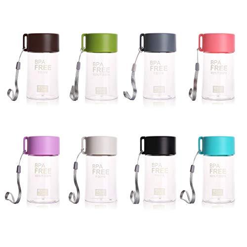 NA/ Marginf - Botella de agua de plástico de 150 ml para niños, portátil, a prueba de fugas, pequeña botella de agua