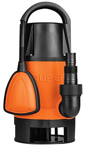 Truper BOS-1SP, Bomba eléctrica sumergible para Agua Sucia, 1 HP, plástica