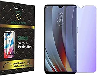 For OPPO A15 / A15s Glass matte anti finger print Flixable Anti Blue With nano Technology Anti Shock - Clear by whats mob